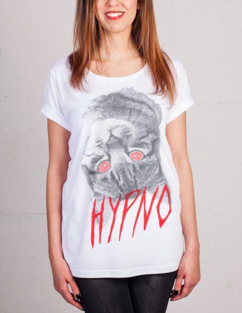 Hypno Cat T-shirt von Daniel Strohhäcker, Frontansicht