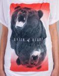 Queen of Bears T-shirt von Daniel Strohhäcker, Detailansicht des Prints