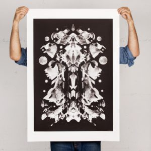 Weltraumfigur Print von Daniel Strohhäcker
