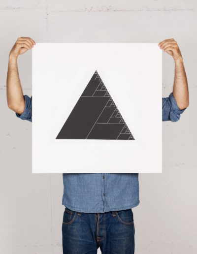 Ashes of the triangle Print von Geometry Daily