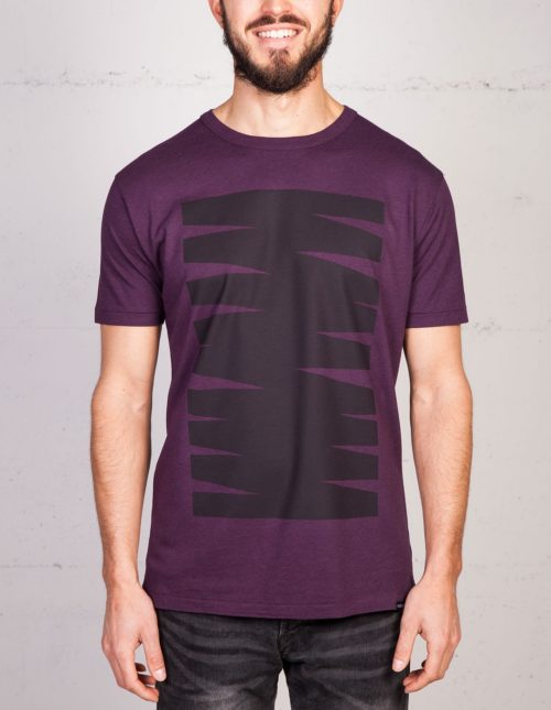 Monument Scribble T-shirt von Geometry Daily, Frontansicht