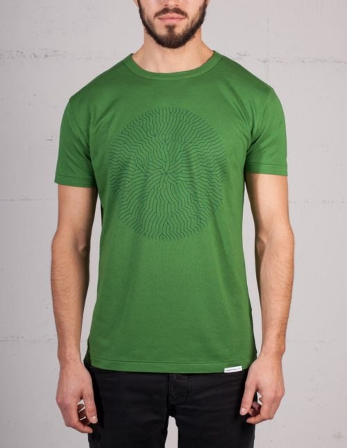 The nautilus fracture t-shirt by Geometry Daily, front view