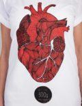 Dreihundert Gramm t-shirt by Mathilda Mutant, detail view of the print