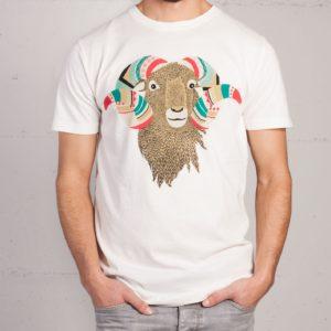 Mufflon T-shirt von Mathilda Mutant, Frontansicht
