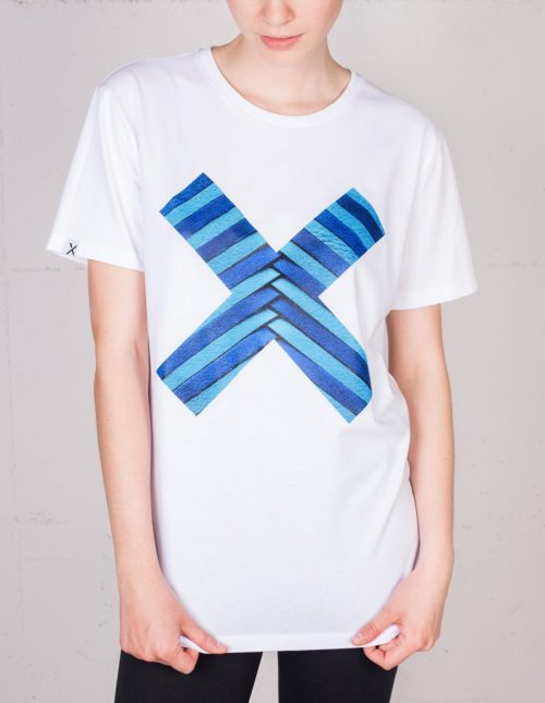 X Moments t-shirt by Lili Radu, front view