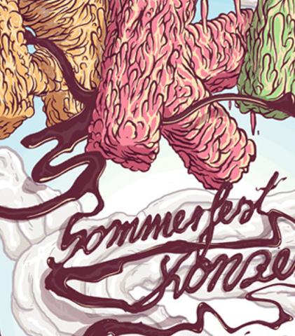 Daniel Strohhäcker, Kunstakademie Sommerfest poster