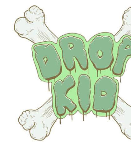Daniel Strohhäcker, logo for Dropkid