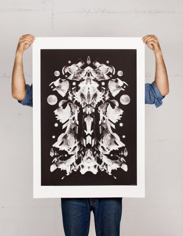 Weltraumfigur print by Daniel Strohhäcker
