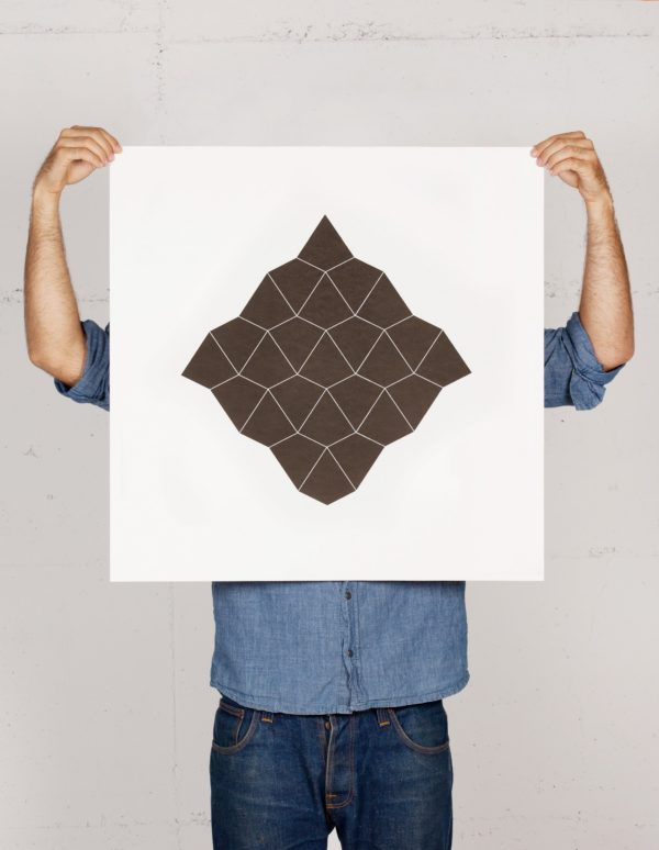 Bird/Ghost print by Geometry Daily