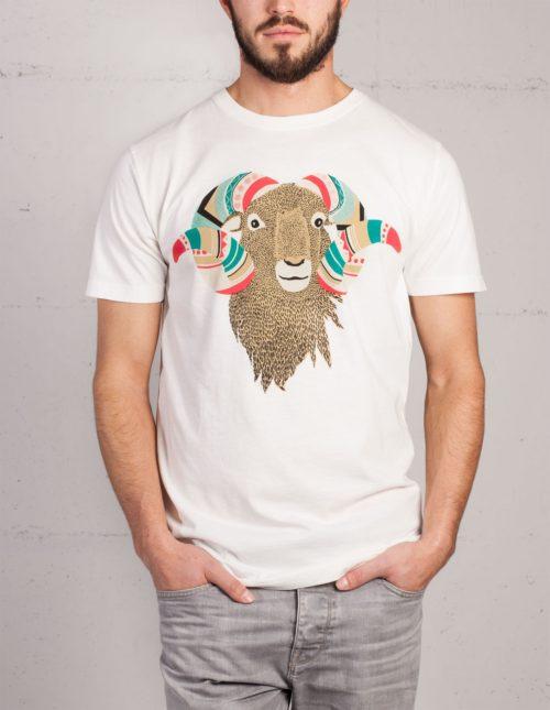 Mufflon t-shirt by Mathilda Mutant, front view